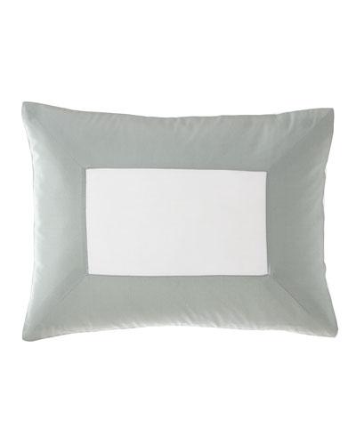 Modern Sateen Applique Boudoir Pillow