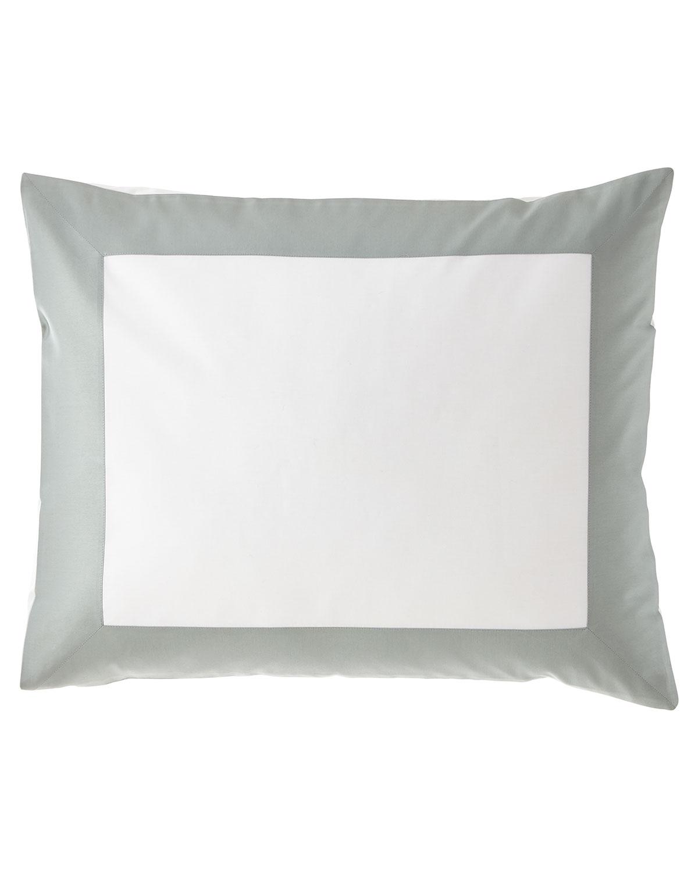 Sferra Pillows MODERN SATEEN APPLIQUE KING SHAM