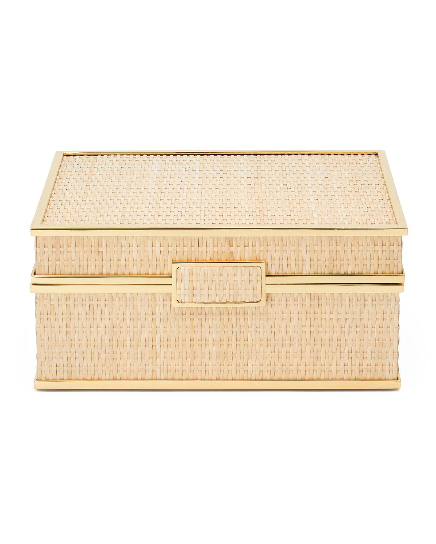 Aerin COLETTE CANE JEWELRY BOX