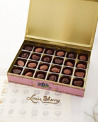 Louis Sherry Orchid 24-Piece Assorted Chocolate Truffle Tin