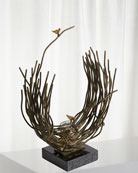 Global Views Small Birds Nest Sculpture and Matching