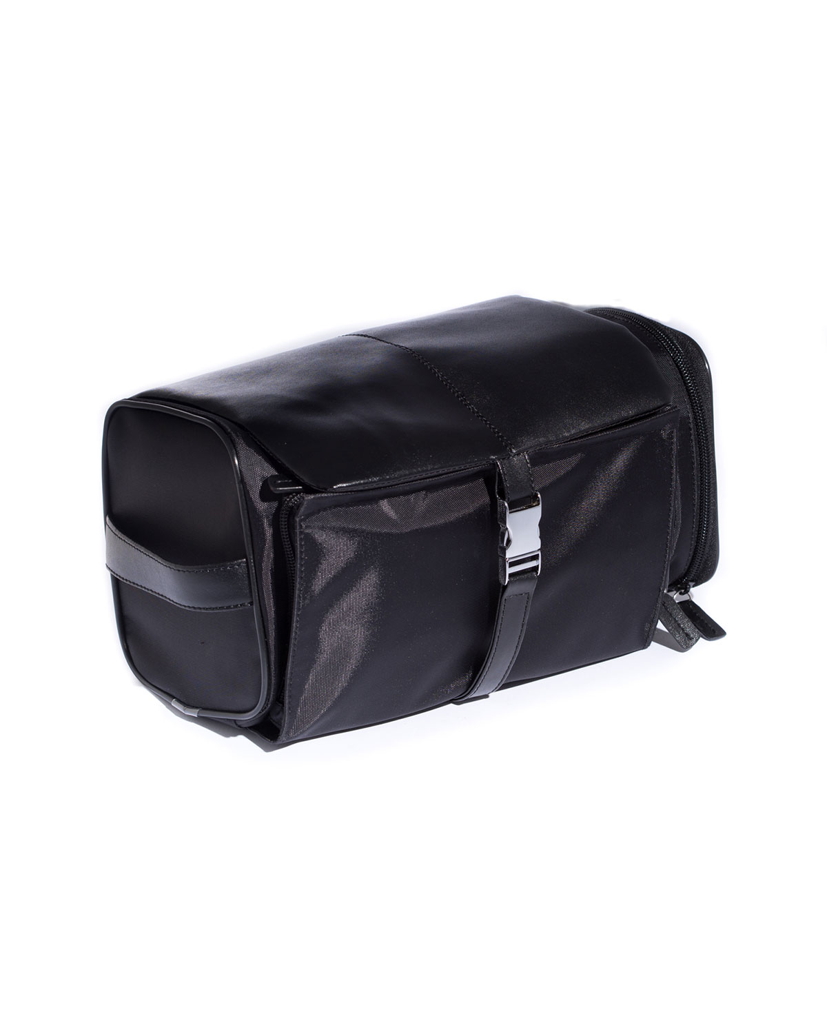 Leather and Nylon Travel Essentials Kit in Case