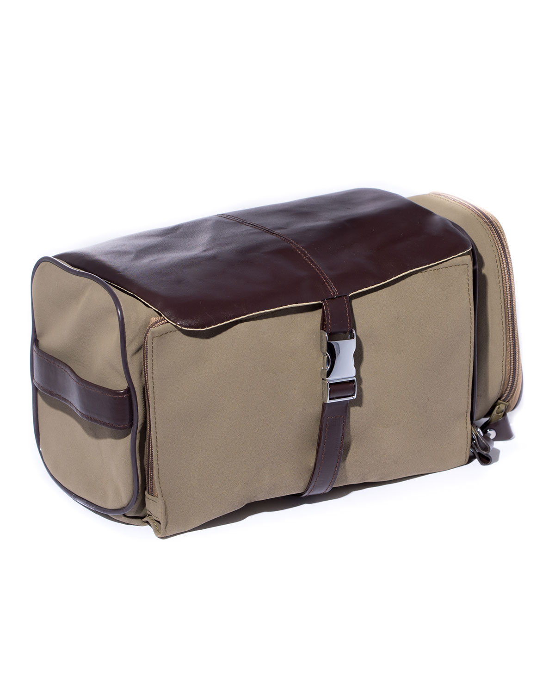 Men's Travel Essentials Kit in Ultrasuede/Leather Case