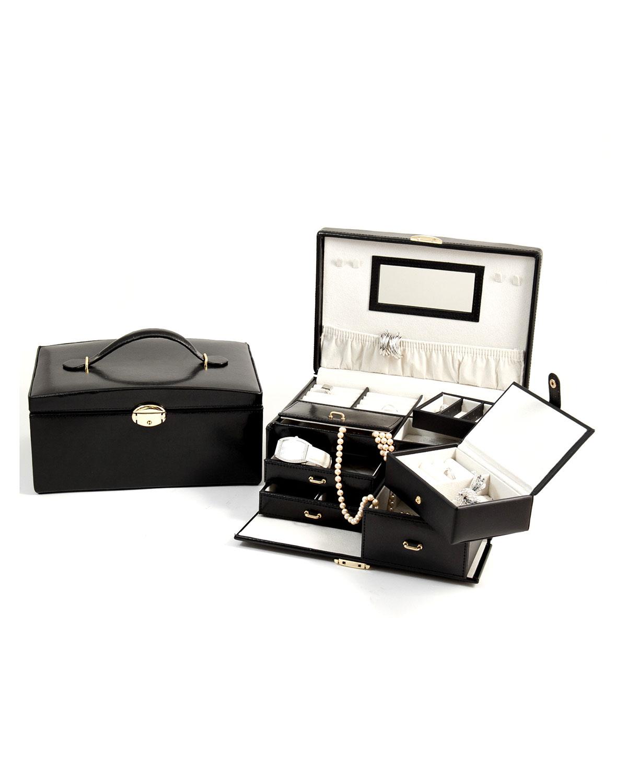 2-Level Leather Jewelry Box