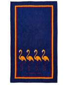 La Serviette Paris Flamingo Beach Towel, Blue