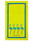 La Serviette Paris Flamingo Beach Towel, Yellow