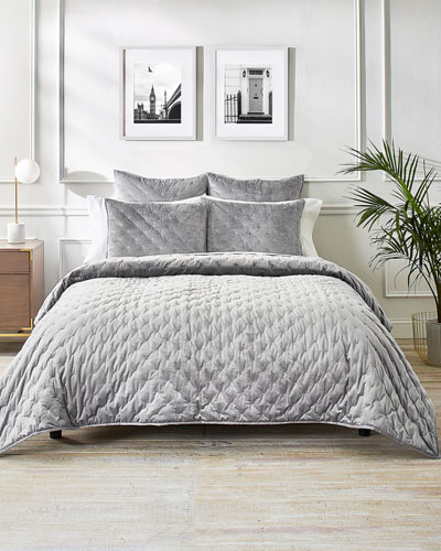 Velvet Bow King Coverlet