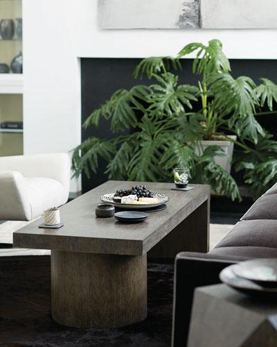 Linea Pedestal Coffee Table