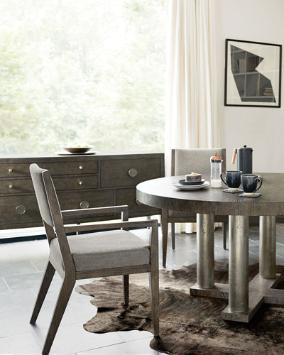 Linea Four-Posted Round Dining Table