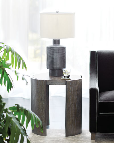 Linea Round Chair-Side Table
