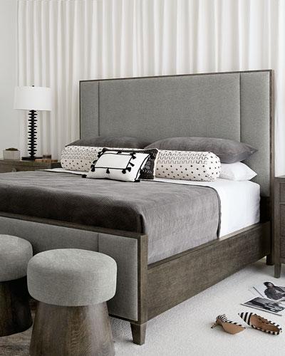 Linea Vertical Panel Queen Bed