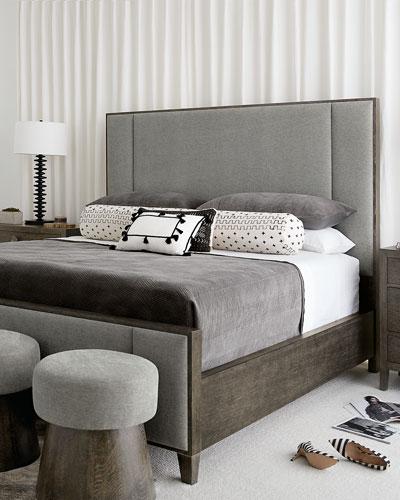 Linea Vertical Panel California King Bed