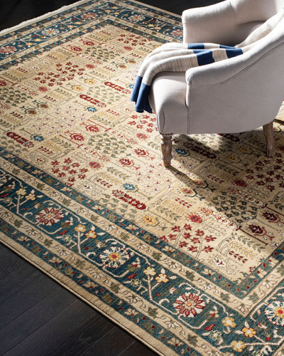 Marqaux Navy Power-Loomed Rug, 5' x 8'