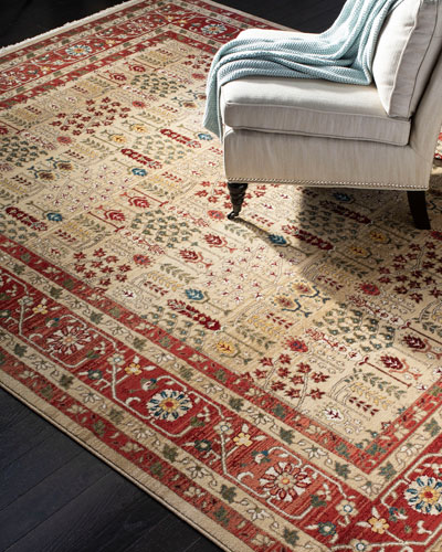 Marqaux Red Power-Loomed Rug, 5' x 8'