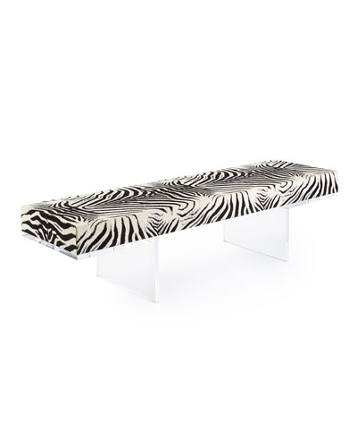 Milo Zebra-Print & Acrylic Coffee Table