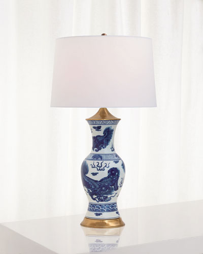 Chow Blue Table Lamp