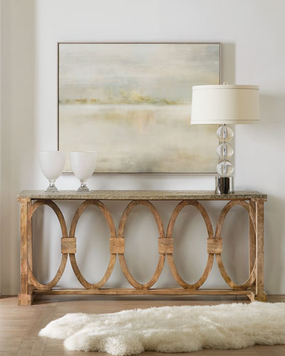 Circle Motif Console Table
