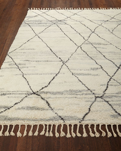 Kirsten Hand-Knotted Shag Area Rug, 5'6