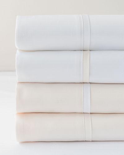 Estate King Sheet Set, Ivory/White