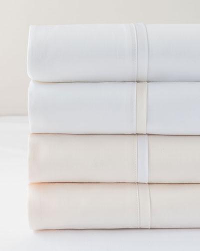 Estate Full/Queen Sheet Set, Ivory/White