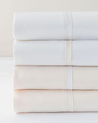 Estate King Sheet Set, White/White