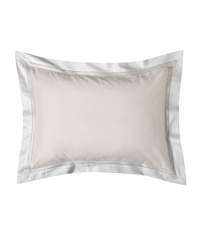 Devere King Sham, Ivory/White