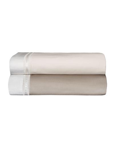 Devere Full/Queen Sheet Set, Ivory/White