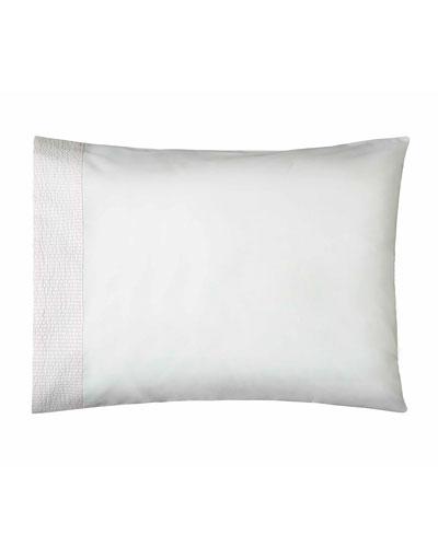 Baby Seersucker Crib Pillowcase, White/Pink