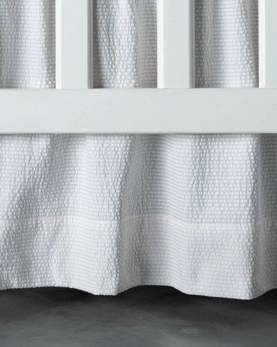 Baby Seersucker Crib Dust Skirt, White/Pink