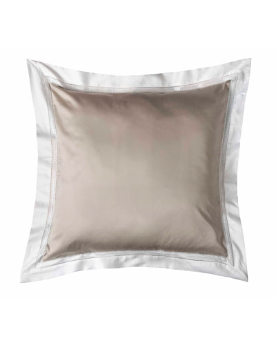 Devere European Sham, Taupe/White