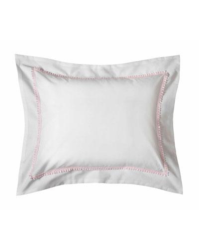 Bitsy Dots Boudoir Sham, White/Light Pink
