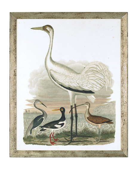 "John-Richard Collection ""Large Heron Family II"" Art Print"