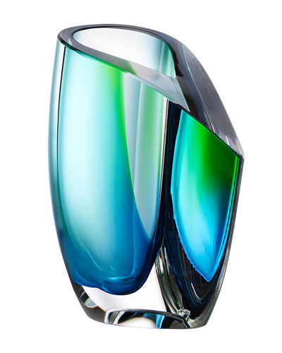 Mirage Vase, Blue/Green