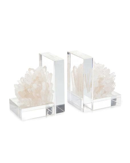 John-Richard Collection Quartz Crystal Book Ends