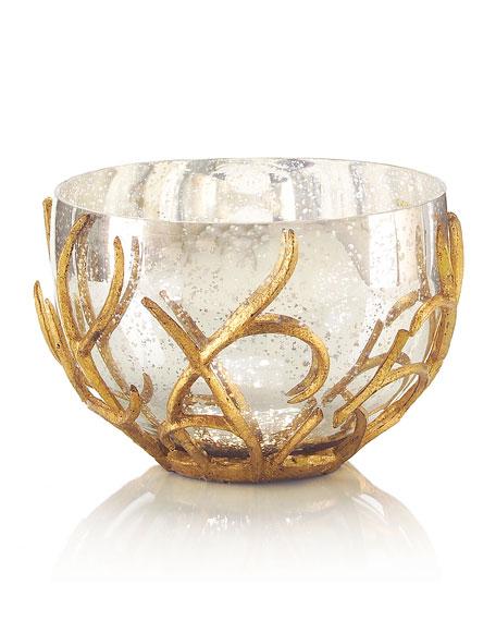 John-Richard Collection Gold Branch Encased Bowl