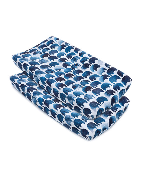 Oilo Studio Elephant Changing Pad Cover, 2 Pack