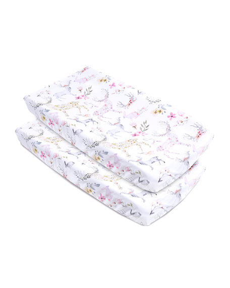 Oilo Studio Fawn Changing Pad Cover, 2 Pack