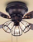 Home Accessories Antiqued Bronze Chandelier Ceiling Fan