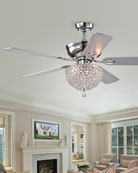 Home Accessories Crystal Embedded Chandelier Ceiling Fan