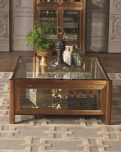 Apothecary Glass Top Coffee Table