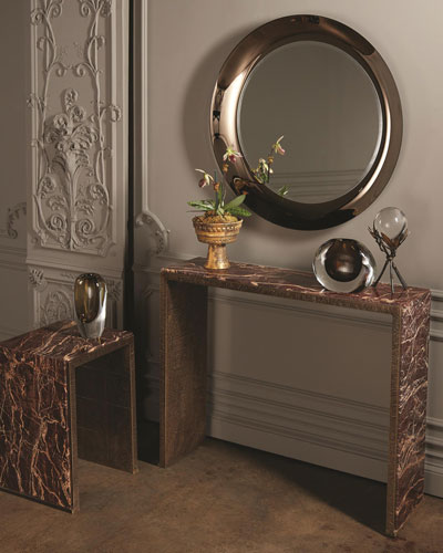 Waterfall Marble Console Table