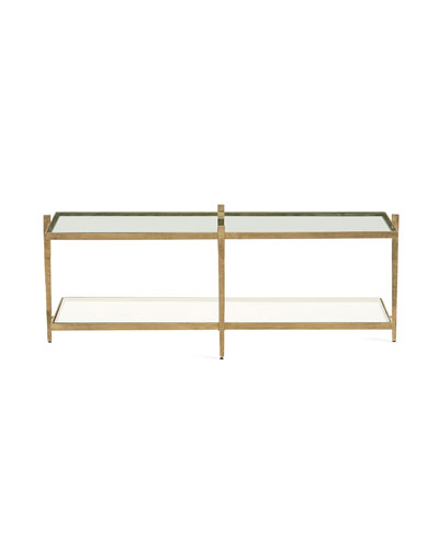 Laforge Antiqued Gold Coffee Table