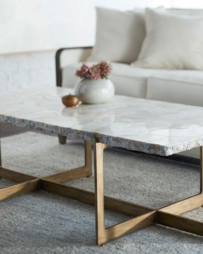 Quick Look. Palecek · Jasmine Fossilized Clam Coffee Table