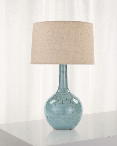 Fluted Ceramic Table Lamp