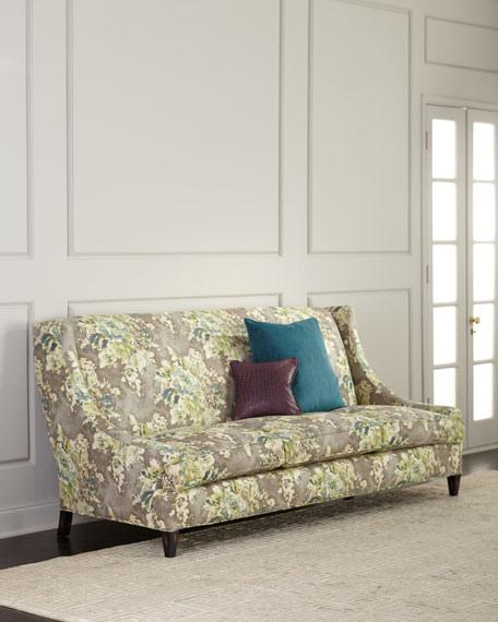 Old Hickory Tannery Tamika Floral Sofa, 88.5""