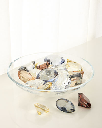 Diamond Bowl with 18 Assorted Jewels