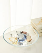 Global Views Diamond Bowl with 9 Assorted Jewels