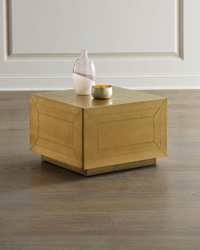 Sasha Brass Clad Storage Bunching Table