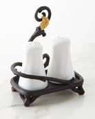 G G Collection White Stoneware Salt & Pepper