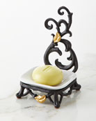 G G Collection White Stoneware Spoon/Soap Rest with